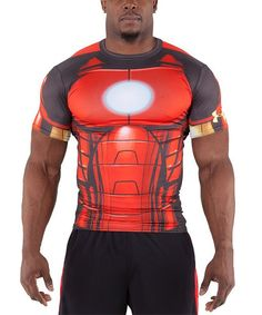 Flash sale Spider-Man & superman shirts for men! Transformers shirt (Optimus prime) cool Father's Day gift for your own personal superhero! Under Armour® Iron Man Red Alter Ego Short-Sleeve Compression Tee on #zulily today!