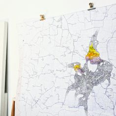 Drawing on a map