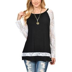 Sexy Lace Hollow-Out Splicing Blouse