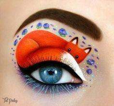 This woman is creating beautiful eye make up that looks like art glossy + matte rainbow lip art makeup Creative Eye Makeup, Eye Makeup Art, Beauty Makeup, Makeup Eyes, Fairy Makeup, Kitty Makeup, Makeup Drawing, Movie Makeup, Drawing Drawing