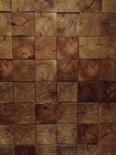 Wood Wall. End cuts.