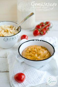 Gemüsesugo vegan für Kleinkinder und Babys / Blw food vegetable sauce for pasta