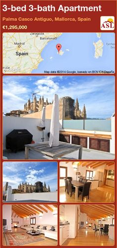 3-bed 3-bath Apartment in Palma Casco Antiguo, Mallorca, Spain ►€1,295,000 #PropertyForSaleInSpain