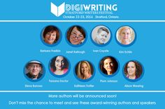 I am speaking at the Stratford Writers Festival October 23rd, 2016. If you live in the Stratford area please come to my workshop. 930am at the library.