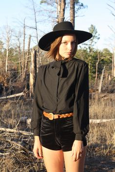 Vintage 70s Black Tie Up Silky Button Up Long Bell Sleeved Shirt / Blouse by TumblingDiceVintage on Etsy https://www.etsy.com/listing/223531058/vintage-70s-black-tie-up-silky-button-up