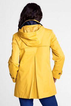 Women's Modern Rain Swing Parka from Lands' End.  Classic yellow slicker...love!