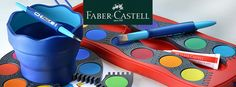 Watercolor, Brush and Watercup by Faber-Castell