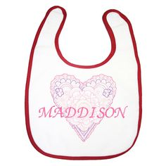 baby girl bib baby girl clothes personalised by BabysPreciousGifts