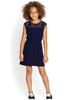 Lace-Paneled Dress (Kids) | Forever 21 girls - 2000121323
