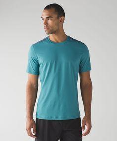Men's Short Sleeve Top - (Blue, Size XL) - Out Run Short Sleeve - lulu
