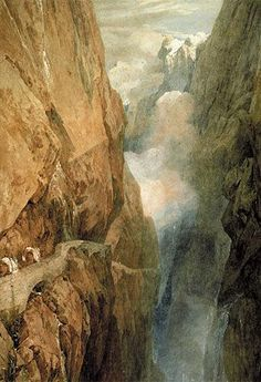 """William Turner, """"Der St. Gotthard-Pass""""  With a click on """"Send as art card"""", you can send this art work to your friends - for free!"""