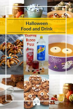Looking for some great ideas for Halloween food and drinks. These Halloween drinks and Halloween Foods will bring a scare to any halloween party!
