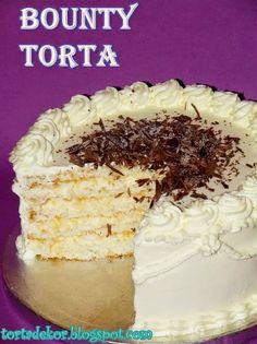 Torták és más finomságok: Bounty torta - lisztmentesen