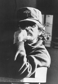 Steven Spielberg on set of Schindler's List, Poland.1991 ©David James