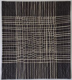 Black & white quilt by Kathleen Loomis - Art With a Needle: Modern quilting -- the show