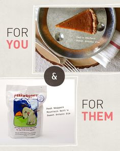 Domestic Beast • For you, for them: Sweet potato pie • Dog replacement meal