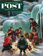 Apres Ski Bonfire (John Clymer, February 23, 1952)
