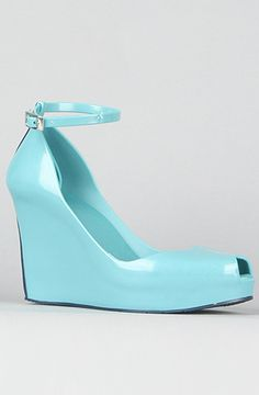 Light blue rubber wedge - perfect for a hot, rainy day!