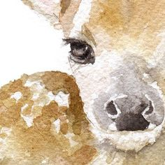 Printed on fine art paper using archival pigment inks. This quality printing allows over 100 years of vivid color in a typica Watercolor Animals, Watercolor Paintings, Watercolor Deer, Watercolours, Painting Inspiration, Art Inspo, Painting & Drawing, Amazing Art, Art Drawings