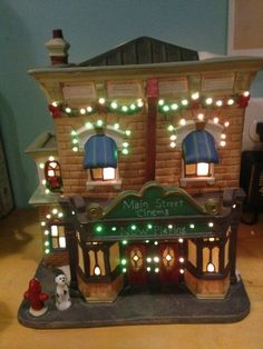 Heartland Valley Village Main Street Cinema  Christmas Fiber Optics  w/ Box,