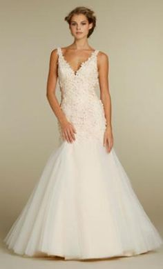 Sample Jim Hjelm Wedding Dress 8206, Size 10  | Get a designer gown for (much!) less on PreOwnedWeddingDresses.com