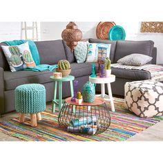 woonkamer, kleur, blauw, bank zuiver, booglamp metal bow, bamboo ...