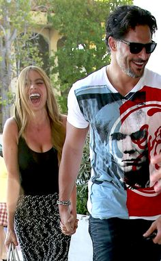 All Smiles from Sofia Vergara & Joe Manganiello's Cutest Pics  If Joe was our boyfriend, we'd be smiling that big too!