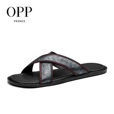 91d52d30cb1d OPP 2017 Summer Men s Genuine Leather Flip Flops Flat Sandals Shoes For men  Beach Sandals Natural