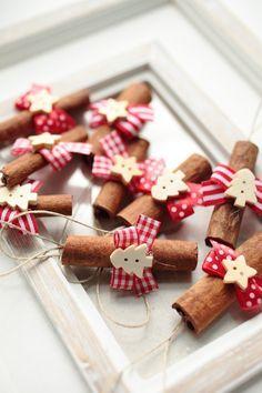 Karácsonyi fahéj díszek, Dekoráció, Karácsonyi, adventi apróságok, Karácsonyi dekoráció, Meska