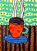 Funny cups painted with tempera! This is a good exercise to learn how many textures you can paint with tempera colours, and how many wa. Creative Arts Therapy, Funny Cups, Art Lessons Elementary, Still Life Art, Tempera, Creative Activities, Air Dry Clay, Pattern Drawing, Art Lesson Plans