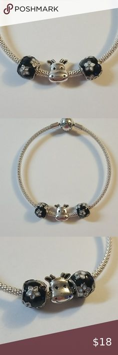 NEW Antique Silver Tone Lattice Pattern Spacer Beads Fit European Charm Bracelet