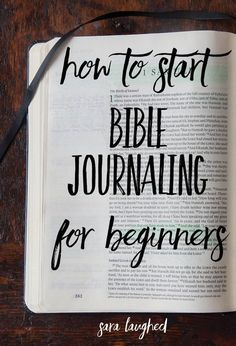 Bible Verses About Faith:How to start Bible journaling for beginners! This is a great step-by-step process for those of you who are interested in Bible journaling but don't know where to start. Pin now, read later! Bible Journaling For Beginners, Bible Study Journal, Scripture Study, Bible Art, Bible Verses, Scriptures, Scripture Journal, Prayer Journals, Devotional Journal