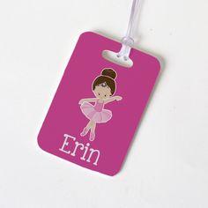 Ballet Bag Tag - Pink Girls Luggage Tag