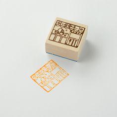 Chamil Garden Wood Rubber Stamp - Shop G3 by niconecozakkaya on Etsy