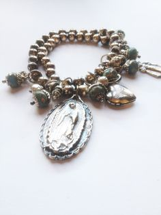 Our Guadalupe Double Wrap Bracelet kit now available online at www.vintagedesignresource.com, and loaded with vintage goodies!