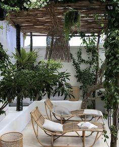 Minimalist Natural Home Decor .Minimalist Natural Home Decor Terrace Design, Patio Design, Exterior Design, House Design, Outdoor Rooms, Outdoor Living, Outdoor Decor, Bali Style Home, Backyard Patio