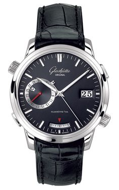 White-gold Senator Diary watch ($38,200) by Glashütte