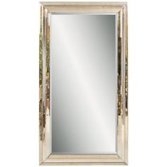 Floor mirror with a beveled glass perimeter.  Product: Floor mirror  Construction Material: Mirrored glass and w...