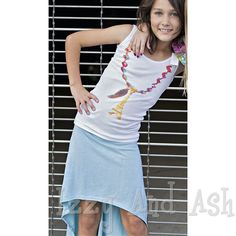 curio + kind mint high low skirt  -  tween  -  girls clothing  -  shop clothing  -  Izzy And Ash