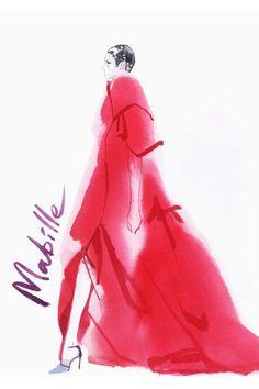 Alexis Mabille Haute Couture Automne-Hiver 2013-2014 par David Downton