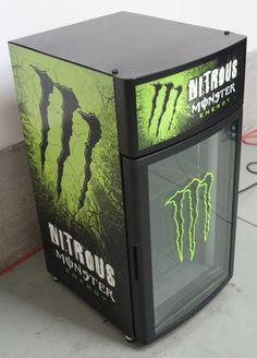 Monster Energy Mini Fridge <3 yes.