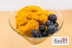 Total 10 Cinnamon Pumpkin Mousse: Satisfy your sweet tooth in an instant with this healthy pumpkin treat!