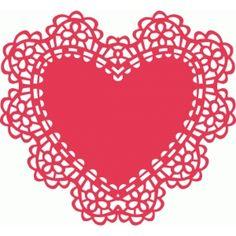 Silhouette Design Store - View Design #38689: intricate heart doily