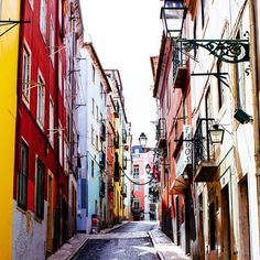 Lisbon, Portugal: Hit the streets for a good time in Bairro Alto Oh The Places You'll Go, Great Places, Amazing Places, Beautiful Streets, Beautiful Places, Portugal Travel, Lisbon Portugal, Sea Activities, Famous Places