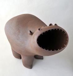 My Gallery - Artwork & Ceramics by Chiu-I Wu Ceramic Monsters, Ceramic Animals, Clay Animals, Pottery Sculpture, Sculpture Clay, Sculpture Ideas, Ceramic Sculptures, Kintsugi, Ceramic Pottery