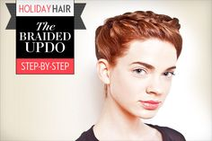 Holiday hair tutorial braid halo updo