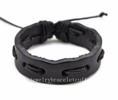 jewelry bangle leather bracelet ropes by jewelrybraceletcuff, $3.00