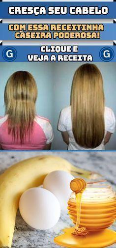 Com essa receita caseira seus cabelos irão crescer rapidamente de forma natural! #crescercabelo #receita #cabelos #dicas #dicascaseiras