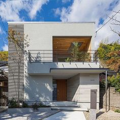Overview/玄関/北欧/外観/天窓/新築...などのインテリア実例 - 2018-01-18 13:26:43 House Extension Design, House Front Design, Concept Architecture, Facade Architecture, Modern Tropical House, Duplex Design, Concrete Houses, Dream Home Design, Modern House Plans