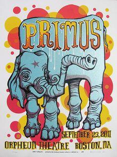 Primus Poster Series - Boston, MA. by Bellyache
